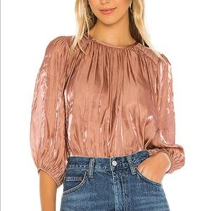 NWT Joie Rose Gold Adelaida Top in Tulip